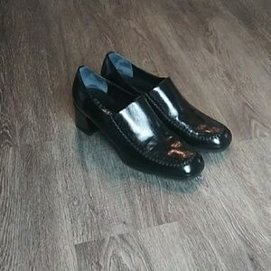 Black Franco Sarto loafers.